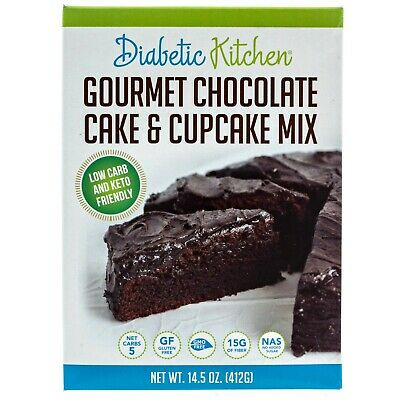 Diabetic Kitchen Chocolate Chocolate Cake & Cupcake Mix 412 g, Low Carb, Monk