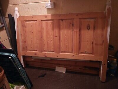 Antique Pine Queen/King Full Bed To Clear As Project/Wood Needs To Go