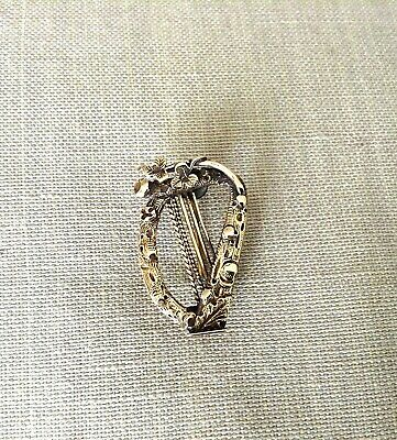 88d454220 Antique Victorian 14K Gold Music Harp Brooch 2.71grams