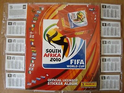 Panini SOUTH AFRICA 2010 COMPLETE SET / SEALED ALBUM / ALL EXTRA UPDATE STICKERS