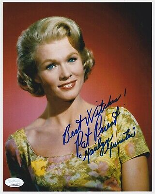 Pat Priest Signed 8X10 Munsters Photo Inscribed Best Witches Marilyn Munster Jsa