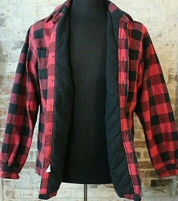 cd889a51d Polo Ralph Lauren Lumberjack Flannel Shirt Insulated Red Black Check  Buffalo M
