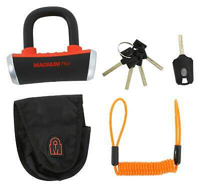 MagnumPlus Security Level 8 Cyclops Motorcycle Disc Padlock 55 x 55 x 14mm
