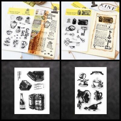 Photo Album DIY Crafts Retro Scrapbooking Transparent Stamp Silicone Rubber