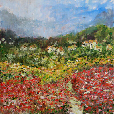 "RETOUCHED CANVAS PRINT ""Bavaria, Germany"" Jorge Garza , oil palette knife art"