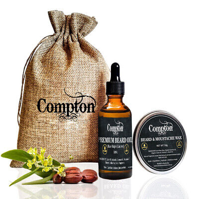 Compton Premium Beard Balm & Oil Set (Attitude) 50 G All Natural Melbourne Made
