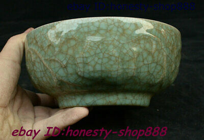 "6"" Collect Old China Ancient Offcial kiln Glaze Crack Porcelain Bowl-like Object"
