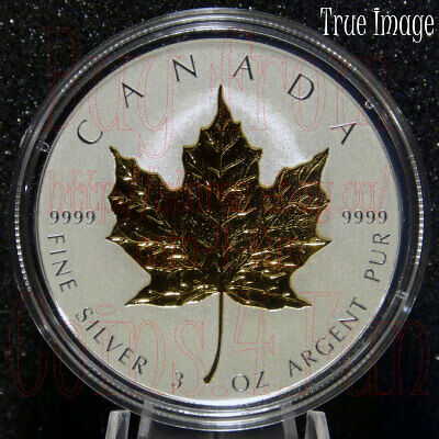 2019 40th Anniversary of Gold Maple Leaf GML $50 3 OZ Pure Silver Coin Canada