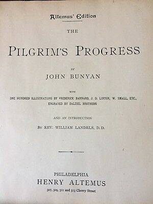 Altemus Edition-The Pilgrims Progress by John Bunyan --1891--EXTREMELY RARE