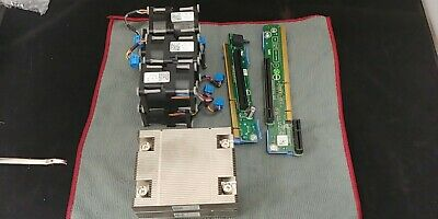 Dell Poweredge  R420 Cpu Processors Upgrade Kit Riser Fan Heatsink