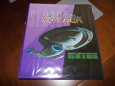 STAR TREK VOYAGER SEASON 1 SERIES 2 MASTER SET IN BINDER MINT Skybox