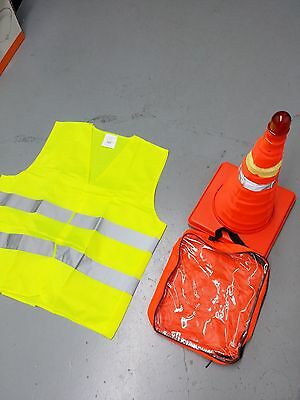 """➨😊10x 18"""" Collapsible LED Traffic Safety Parking Pop Cones + Reflective Vest🌏█"""