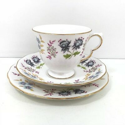 Vintage Queen Anne Fine Bone China Trio Cup Saucer Tea Plate F 96 0 A738