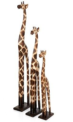 Carved Wooden Fair Trade Single Giraffe - GIR-001