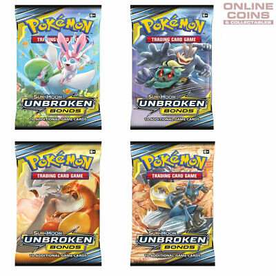 POKEMON TCG - UNBROKEN BONDS 4 x10 Card Booster Packs 40 CARDS IN TOTAL