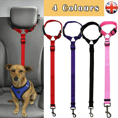 Pet Belt Dog Harness Car Vehicle Seat Belt Pet Safety Adjustable Leash Leads UK