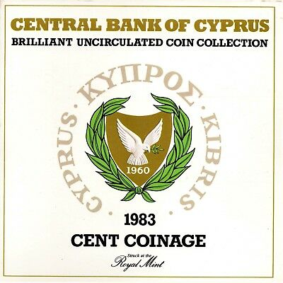 1983 Cyprus Brilliant Uncirculated Coin Set