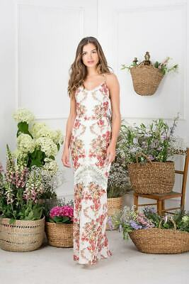 Hope & Ivy High All Over Printed Maxi Dress with Lace - Size: 16  RRP £85