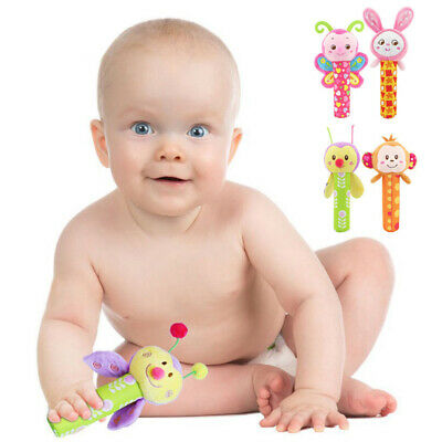 Newborn Baby Bed Stroller Rattle Soft Plush Mobile Kids Ring Bell Crib Doll Toys