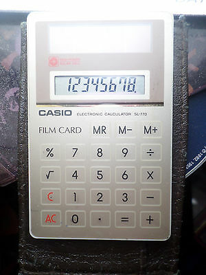 Calculatrice Casio SL-770 Solaire Film Card