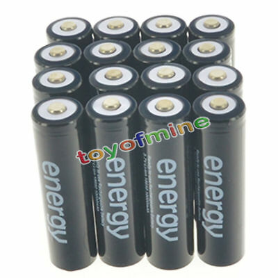 16pcs 18650 Battery 10000mAh Li-ion 3.7V Rechargeable Lithium Batteries Cell