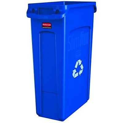Rubbermaid Commercial Vented Slim Jim Recycling Bin Waste Receptacle, 87 Litres,