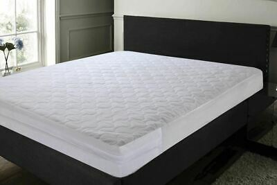 Zipped Quilted Full Mattress Cover Encasement Protector Cotton Rich