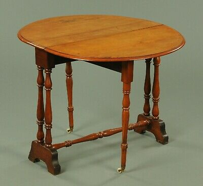Antique Mahogany Sutherland (drop sided) table, with wheels