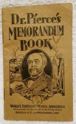 1929-1930 Dr. Pierce's Memorandum Booklet Medical Remedies Calendar Buffalo NY