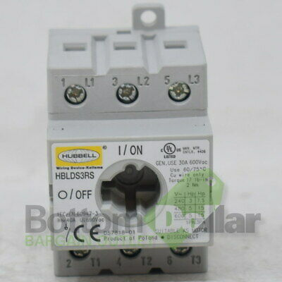 Hubbell Wiring Device-Kellems HBLDS3RS Replacement Disconnect Switch 30A 600V