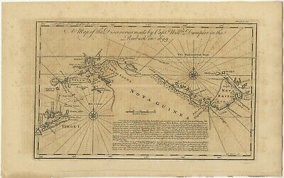 Antique Map of New Guinea by Bowen (1745)
