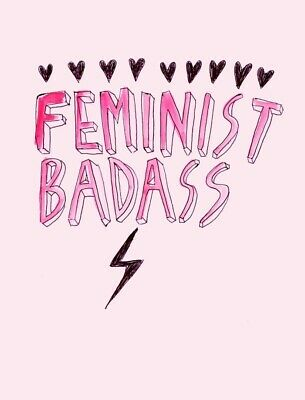 """3"""" Men Are Pigs Funny Girl Power Pink Feminist Strong Woman Sticker"""