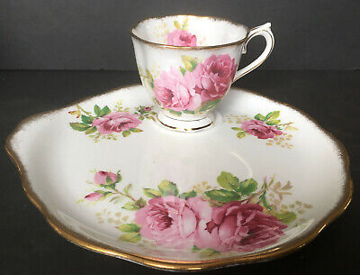 Vintage Royal Albert American Beauty Snack Plate Tray And Cup 2 Available