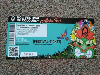 Holi Festival of Colours Leipzig 2019 Tickets Festival Ticket