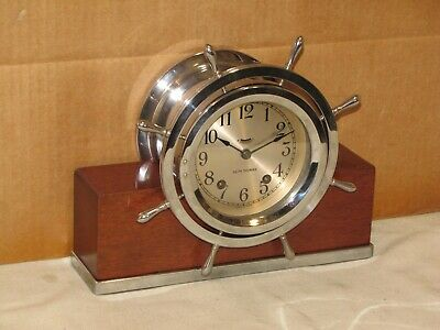 Seth Thomas Vintage Ships Bell Clock~4 In.dial~1948~Chelsea Key~Seldom Seen Mdl