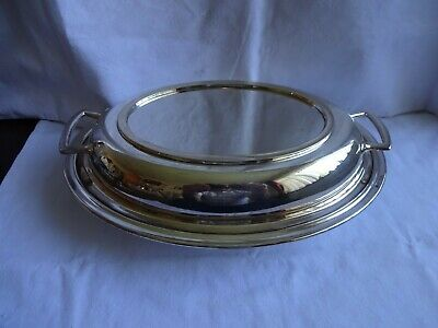 Vintage Silver Plated EPNS Oval Serving Twin Handled Tureen, F Howard Sheffield