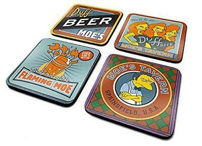 OFFICIAL The Simpsons (Moes Taven) Set Of 4 Coaster /Drinks Mat BY PYRAMID NEW