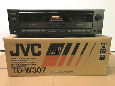 JVC TD-W307 Dual Auto Reverse Double Cassette Tape Deck -Pitch Control -Tested
