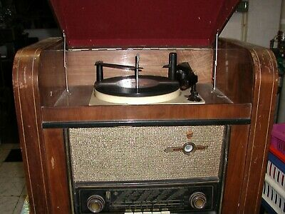 Radio pick-up EMUD RADIO Tourne disques 33 - 45 - 78 tours année 1955