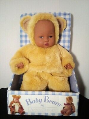 New With Tags Punctual Vintage Anne Geddes No Box! Baby Bear Bean Filled Doll