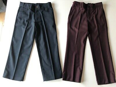Boys bundle smart navy blue NEXT & plum M&S trousers age 6 years