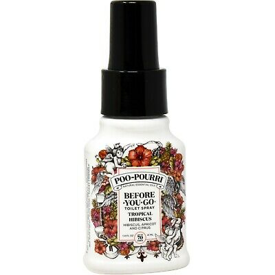 Poo-Pourri Before-You-Go Toilet Spray 1.4-Ounce Bottle, Tropical Hibiscus Scent