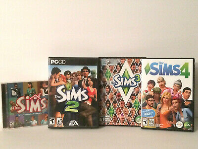 The Sims 1-4 Complete Set Windows PC 2000 2004 2009 2017 Simulation Games