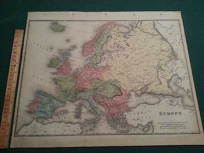 1880 Europe Atlas Map - from Illustrated Atlas of the Dominion of Canada - Rare