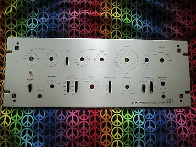 Vintage PIONEER SPEC-1 Stereo Pre-amp  Face Plate only. Beautiful Condition