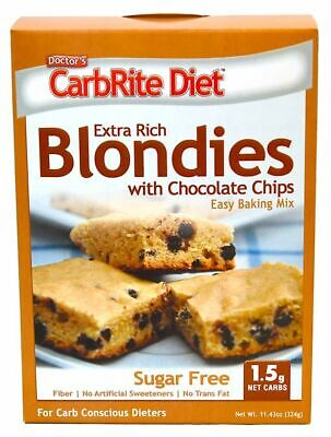 Doctor's CarbRite Diet Chocolate Chip Blondies Mix 324 g, Low Carb, Sugar Free
