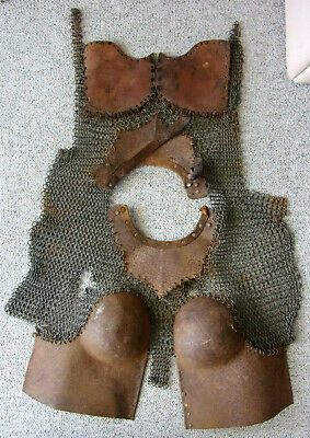 Medieval Female Body Armor with Chain Mail / Leather - SCA