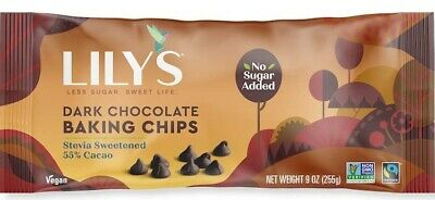 Lily's Sweets Dark Chocolate Premium Baking Chips 255 g, Sugar Free, Low Carb