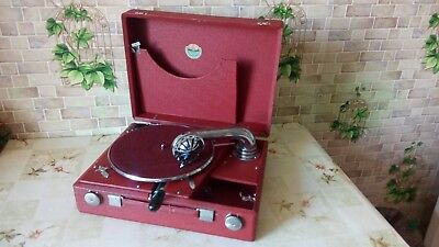 """Vintage USSR GRAMOPHONE PHONOGRAPH Portable Record Player """"MOLOT"""" 1930-1940""""s"""