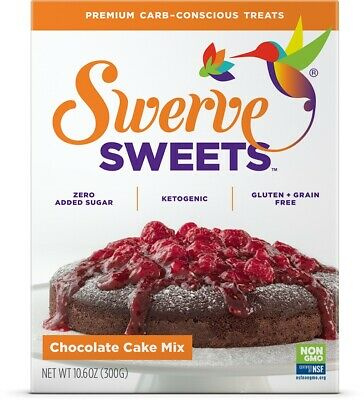 Swerve Sweets Chocolate Cake Mix 300 g, No Sugar, Low Carb, Keto